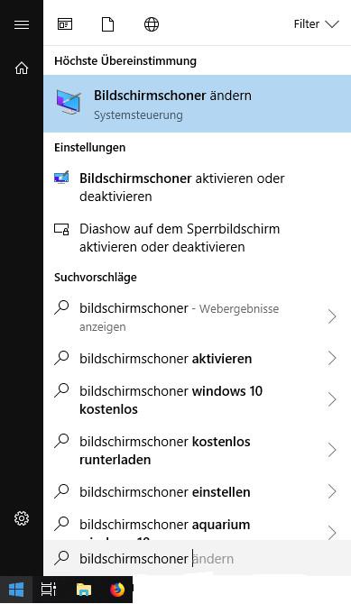 Windows Bildschirmschoner ändern